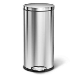 Simplehuman Kitchen Trash Can Outdoor Island Frame Kit 美国直邮simplehuman 不锈钢圆形垃圾桶35升35升圆形垃圾桶可以指纹防锈 不锈钢圆形垃圾桶35升35升圆形垃圾