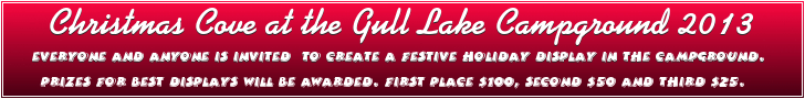 Gull Lake's 2nd Annual Christmas Cove at the Campground  GULL LAKE SouthWest Saskatchewan Tourism  Events