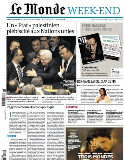 Le Monde et Suppléments du Samedi 1er Décembre 2012