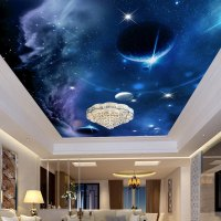 Custom Any Size 3D Wall Murals Wallpaper Universe Starry ...