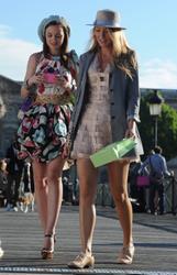 Blake Lively & Leighton Meester leggy on the Gossip Girl set in Paris - Hot Celebs Home