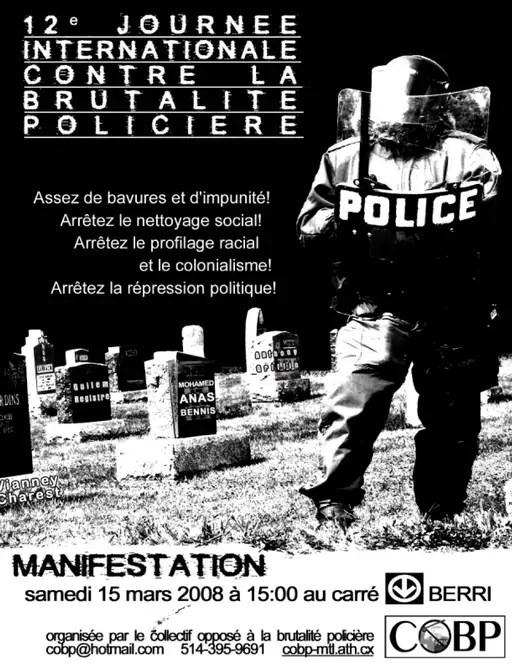 Manifestation contre la brutalité policière