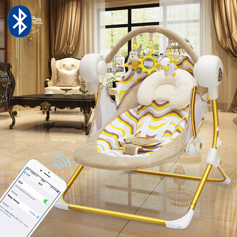 swing chair local leap by steelcase review 牧川muchuan increase baby electric rocking comfort recliner cradle bed gold remote control with