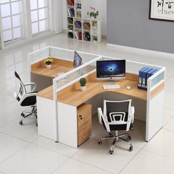 pedestal kitchen table ikea installation cost 欧基办公家具办公桌4 6人位职员办公桌四人屏风工作位办公室l型隔断卡座 6人位职员办公桌四人