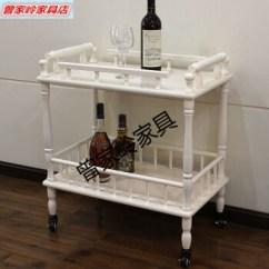 Kitchen Cart Table Beautiful Cabinets 移动餐车置物架实木推车欧式白色酒水车厨房家用茶水车餐边桌白色 图片 移动餐车置物架实木推车欧式白色酒水车厨房家用茶水车餐