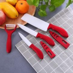 Red Kitchen Knife Set Small Recycling Bins For 金彪马 Gdldenhorse 瓷刀套装菜刀单刀切菜刀切片刀厨具厨房刀具红色四 瓷刀套装菜刀单刀切菜刀切片刀厨具厨房