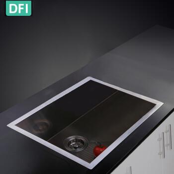 high end kitchen sinks black metal cabinets dfi 工匠打造手工直角单槽盘高端厨房304不锈钢拉丝手工水槽洗菜水盆大小 工匠打造手工直角单槽盘高端厨房304不锈钢拉丝手工水槽洗
