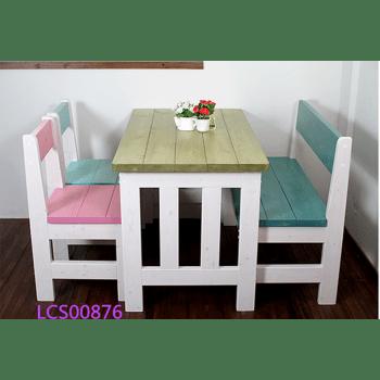kitchen table bench seat country sink 地中海餐桌 阳台餐桌椅 彩色桌椅 学习桌椅 做旧实木餐桌田园咖啡桌小户型