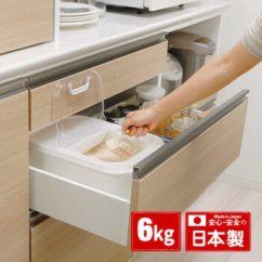 Kitchen Crock Stainless Steel Cart Sp Sauce Inomata日本进口抽屉用米桶6kg储米箱家用厨房米缸面粉储存箱 Inomata日本进口抽屉用米桶6kg储米箱家用厨房米