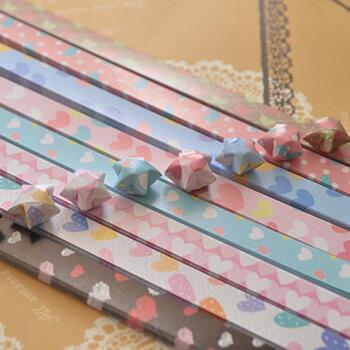 origami folding kitchen island cart under cabinet lighting 爱惊喜星星纸diy许愿星折纸材料可爱桃心图案星星折纸彩色折星星的纸幸运 爱惊喜星星纸diy许愿星折纸材料可爱桃心图案星星折纸彩色