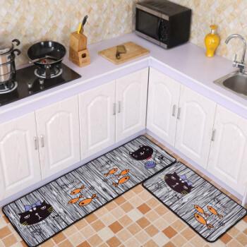 cute kitchen rugs kohler porcelain sink 九德地毯现代简约卡通可爱图案厨房地垫长条吸水吸油脚垫卫生间浴室门垫 九德地毯现代简约卡通可爱图案厨房地垫长条吸水吸油脚