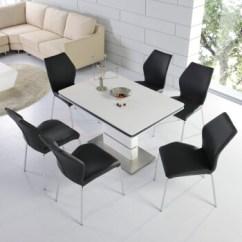Black Kitchen Tables Corner Bench J C 杰希家具餐桌欧式现代简约餐桌椅组合套装ja3010 1 2米配黑色餐椅4张 2米