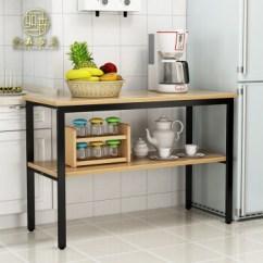 High Kitchen Table Sets Appliance Bundle 如森 Rusen 厨房桌切菜桌操作台微波炉多功能置物架长桌厨房家用餐桌钢 厨房桌切菜桌操作台微波炉多功能置物