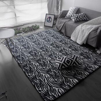 2x3 kitchen rug outdoor counter 北欧潮流地毯客厅豹纹现代斑马纹客厅卧室灰地毯黑白地毯sn9922 斑马纹2x3