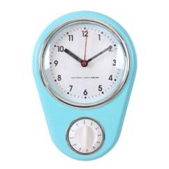 Kitchen Clocks The Best Way To Clean Cabinets Doxa简约创意厨房钟表家用钟个性闹铃定时器石英钟迷你挂钟天蓝色其他 图片价格品牌报价 京东