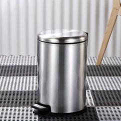 Tall Kitchen Bin Cabinets Island Youlet 德国不锈钢脚踏式垃圾桶卫生间厨房家用垃圾筒圆形不锈钢垃圾桶12l 德国不锈钢脚踏式垃圾桶卫生间厨房家用垃圾筒圆形不锈钢