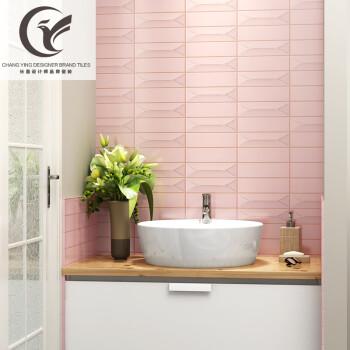 kitchen wall art decor ideas on a budget 北欧粉色釉面浴室纯色卫生间窑变手工砖厨房墙砖艺术瓷砖64x226 yb002 图片价格品牌报价 京东