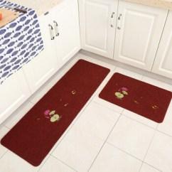 Kitchen Floor Rugs Prefabricated Cabinets 厨房地毯脚垫地垫门垫耐脏长条防油垫子卫浴防滑门口吸水卧室家用垫绣花底 厨房地毯脚垫地垫门垫耐脏长条防油垫子卫浴