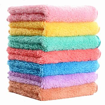 kitchen towels bulk back splash 乾越 qianyue 珊瑚绒抹布洗碗布双层清洁毛巾吸水厨房擦桌抹布30 30cm 珊瑚绒抹布洗碗布双层清洁毛巾吸水