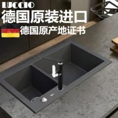 Black Sink Kitchen Update Ideas Luccio 德国原装进口 石英石水槽黑色花岗岩厨房水槽厨房手工槽洗菜盆