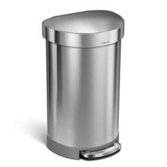 Simplehuman Kitchen Trash Can Design A Online 美国直邮simplehuman不锈钢脚踏式垃圾桶45升45升半圆形垃圾桶不锈钢 美国直邮simplehuman不锈钢脚踏式垃圾桶45升45升半圆
