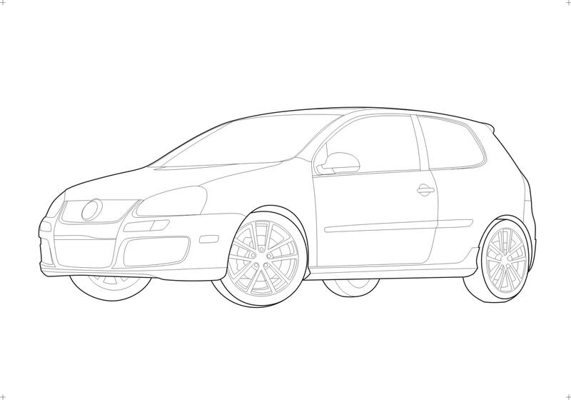 Golf GTI MK V Uncolored by zextron on DeviantArt