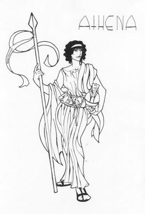 greek goddess drawing god zeus deviantart tattoo sanomi gods drawings nike poseidon hades sketched previous