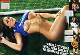 Lucy Pinder celebrate start of new season of Premier League by stripping off jerseys of clubs for Nuts magazine - Hot Celebs Home