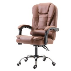 Brown Computer Chair Chairs Made To Order Oron Ford Office Boss Company Staff Massage Main