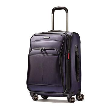 新秀麗/Samsonite 21英寸 軟殼 登機箱 萬向輪 行李箱 拉桿箱 旅行箱 紫色 21寸【圖片 價格 品牌 報價】-京東