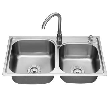 ss kitchen sinks retro sets 帅康 sacon 厨房水槽304不锈钢双槽大容量洗菜盆水池套餐ss 616g 图片 图片价格品牌报价 京东