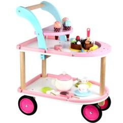 Wooden Kitchen Cart Copper Sink Toywoo 蛋糕车冰激凌车切切看木制儿童过家家厨房仿真蛋糕推车切切玩具 蛋糕车冰激凌车切切看木制儿童过家家厨房仿真蛋糕