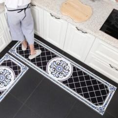 Black Kitchen Rugs Wood Tile 厨房地垫长条吸水防滑垫子脚垫家用厨房地毯可手洗黑色款颗粒底40 60cm 厨房地垫长条吸水防滑垫子脚垫家用厨房地毯可手洗黑色