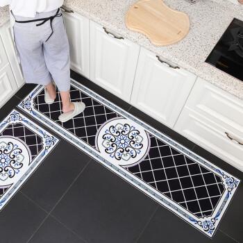black kitchen rugs delta cassidy faucet 厨房地垫长条吸水防滑垫子脚垫家用厨房地毯可手洗黑色款颗粒底40 60cm 厨房地垫长条吸水防滑垫子脚垫家用厨房地毯可手洗黑色