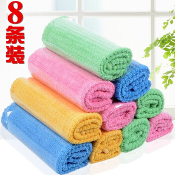 bulk kitchen towels virginia beach hotels with 擦玻璃抹布吸水厨房洗碗布擦桌子清洁毛巾百洁布g 格子抹布 8条混色装