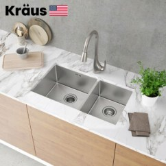 Kraus Kitchen Faucet Door Hinges 克劳思克劳斯厨房水槽洗菜盆双盆1 5mm厚304不锈钢手工双槽台下式 5mm