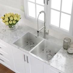 Kraus Kitchen Sinks Fans With Lights 美国克劳思克劳斯厨房水槽洗菜盆双盆1 5mm厚304不锈钢手工双槽 5