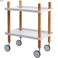 Wooden Kitchen Cart Ikea Sink Accessories 小推车置物架客厅推车木制多功能简约厨房小推车可移动置物架带轮典雅白 小推车置物架客厅推车木制多功能简约厨房小推
