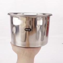 Kitchen Tool Crock Design Program 不锈钢味盅桶调料罐调料缸圆形调味盒带盖子厨房炖盅和面盆烘焙工具加厚 不锈钢味盅桶调料罐调料缸圆形调味盒带盖子厨房炖盅