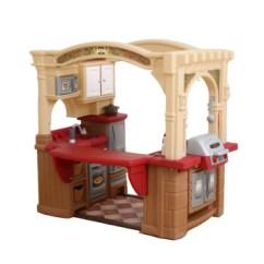 American Plastic Toys Custom Kitchen Island Countertop 美国进口晋阶step2幼儿童大型厨房男女孩过家家室内玩具仿真做饭厨具餐具 美国进口晋阶step2幼儿童大型厨房男女孩过家家室内玩具