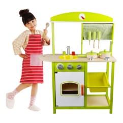 Wooden Kids Kitchen Glass Top Table Sets 一点过家家玩具木制儿童厨房套装女孩做饭煮饭玩具3岁以上宝宝绿色儿童 一点过家家玩具木制儿童厨房套装女孩做饭煮饭玩具