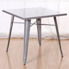Metal Kitchen Tables Ideas For Small 霍客森正方形铁餐桌金属桌子会谈桌接待桌休闲桌子银色 图片价格品牌报价 京东