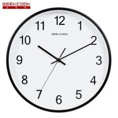 Rustic Kitchen Clock Ikea Cabinets Installation 极客库 Geekcook 北欧石英钟表简约现代时钟卧室家用壁挂钟静音客厅 北欧石英钟表简约现代时钟卧室家用壁挂钟