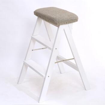 stools for kitchen island mobile 凳子木椅子家用厨房凳子梯凳折叠餐椅子折叠家用板凳高凳子纯色 白腿 凳子木椅子家用厨房凳子梯凳折叠餐椅子折叠家用板凳高凳子