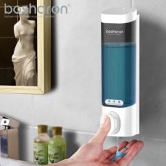 Kitchen Hand Soap Sink Paint 博莎朗 Bosharon 皂液器壁挂式免打孔洗手液盒厨房水槽洗洁精瓶洗发水 皂液器壁挂式免打孔洗手液