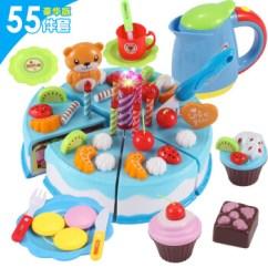Little Girl Kitchen Sets Cabinet Installation Tools 儿童过家家生日蛋糕玩具宝宝仿真厨房水果切切乐小女孩生日圣诞礼物蓝色55 儿童过家家生日蛋糕玩具宝宝仿真厨房水果切切乐小女孩生日