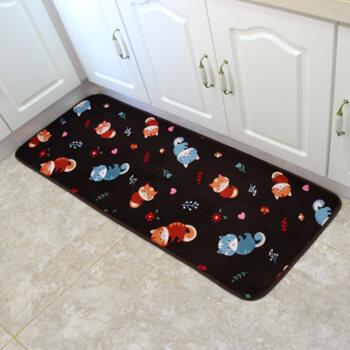 cute kitchen rugs black stools 加厚厨房玄关吸水防滑地毯地垫门垫入户进门脚垫可爱狸猫500mmx1200mm 加厚厨房玄关吸水防滑地毯地垫门垫入户进门脚垫