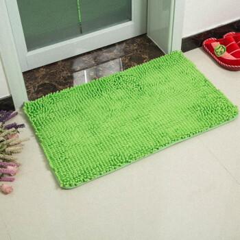 green kitchen mat gadgets 多美娇环保纯棉雪尼尔地毯地垫吸水防滑门垫卫浴室厨房垫玄关垫蹭脚垫雪尼 多美娇环保纯棉雪尼尔地毯地垫吸水防滑门垫