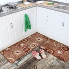 Long Kitchen Rugs Pulls And Handles For Cabinets 卡通厨房地毯长条吸水脚垫防滑门垫可定制欧式圆圈45x100cm 图片价格品牌