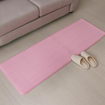 pink kitchen rug aid products 可可苏打记忆绵地毯慢回弹地垫床边床头地毯移门长条厨房地垫浴室门垫 可可苏打记忆绵地毯慢回弹地垫床边床头地毯移